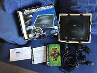 Sega Saturn console and game