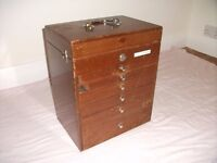 Old Dentist Cabinet Including Various Tools. See ad & Pics for details & condition.