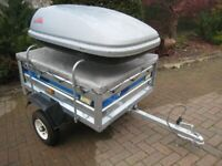As new Maypole 712 trailer (Erde 122),roof box,flat cover