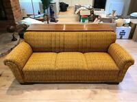 Vintage retro original 1920s German 3 seater sofa. Only used for 4 months