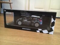 Minichamps 1:18 scale model die-cast rally car. Limited Edition. Ford Fiesta WRC Ford - NEW
