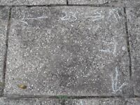 """PAVING SLABS 23"""" x 17"""" APPROX ( 50 )"""