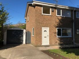 3 bed semi detached house with garage