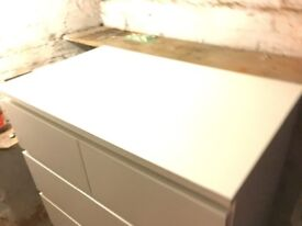 IKEA malm 6 drawer chest in white