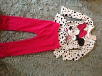 Minnie mouse top and legging set