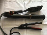Hair styling brush/mini straighteners
