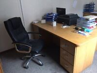 Desks, chairs, Fireproof cabinets, photocopier