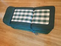 *Robert Dyas 8 Green Garden Chair Cushions* (Never Used)