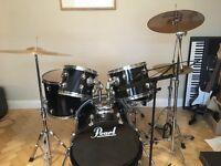 Pearl target drum kit
