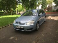 "2005 (55) TOYOTA COROLLA COLOUR COLLECTION 3DR 1.6 PETROL ""LONG MOT + DRIVES VERY GOOD"""
