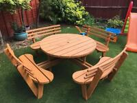 8 seater good quality garden bench