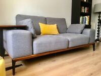 Large Two Seater Sofa , Grey
