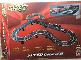 Car racing track and wired-remote cars