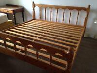 Super King Pine bed Frame 6' wide.