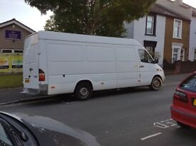 low milege Mercedes LWB sprinter van, 2 owners from new,dead locks all round.
