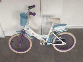 """Girls 16"""" frozen bike"""
