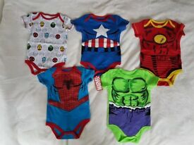 Spider Man, Hulk, Captain America etc. Super Hero Tops 12 months BRAND NEW WITH TAGS