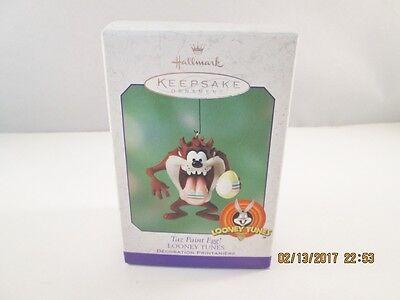 Hallmark Keepsake Looney Tunes Taz Paint Egg Ornament 2001