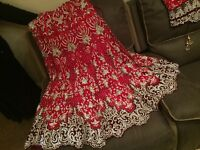 Red and silver stoned gorgeous wedding lengha dress