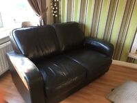 2 seater M&S leather sofa for sale £100