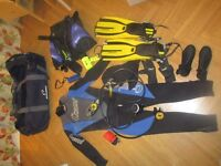 Set of Diving Gear (Price includes Postage)