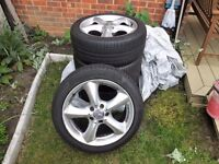 """MERCEDES C-CLASS CL203 W203 4x 17"""" ADHARAZ ALLOY WHEELS WITH CONTINENTAL CONTISPORT TYRES"""