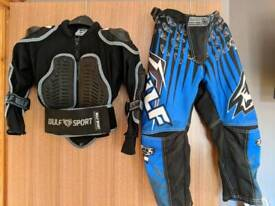 Motocross clothing - kids aged 3-5 approx