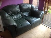Free green leather sofa