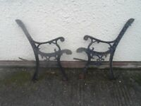Cast iron Bench Ends all good with under seat straps winter project