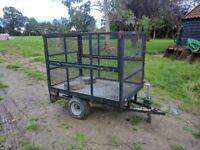 Utility Trailer, high mesh sides, lights, garden mower or quad suitable