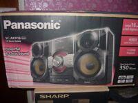 new panasonic cd stereo sc-akx16