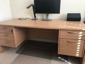 Ikea bureau desk ikea ps 2014 birch & orange in leatherhead