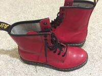 Red Dr Martens size 6