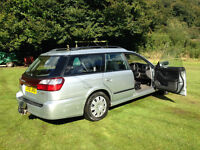 lovely silver 2001 petrol 2 ltr subaru legacy estate - mot until end may, 90k miles
