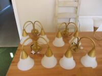 Light fittings four side lights and one centre light very good condition £2 each