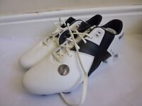 X-Blades JET FG White/Black Rugby Boots Adults UK 11 New and Boxed