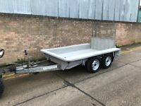 Ifor Williams 8ft x4ft digger/plant trailer, twin axel