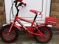 Child's fire engine bike