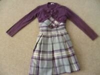 Girls Mayoral Dress And Matching Cardigan Aged 6
