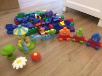 100+ Megabloks incl IN THE NIGHT GARDEN SET- Baby/toddler/preschool toy