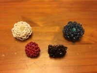 Ladies beaded rings - 4 of them - excellent condition