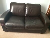 Good quality Art Deco style leather sofas