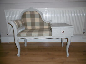 JUST REFURBISHED Lovely Vintage Telephone Seat / Table
