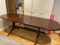 Beautiful antique McIntosh solid teak table and chairs dining set (215cm by 90cm)