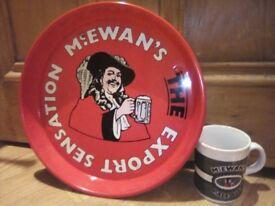 McEwans Pub Tray & mug