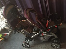 New twin pushchair