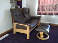 Stressless 2and 3 seater sofas