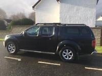 Nissan navara tekna 2.5dci 188bhp top spec sat nav leather double cab pick up 2011 year 4x4