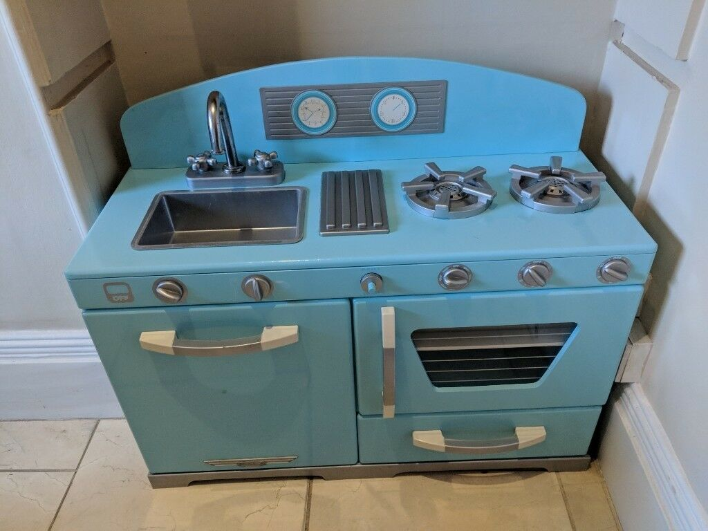 Kid Kraft Eggshell Blue Wooden Toy Play Kitchen With Fridge In Brixton London Gumtree