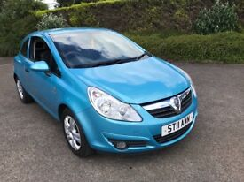 """IDEAL FIRST CAR"""" 2011 VAUXHALL CORSA 1.2 ENERGY 3 DOOR BLUE CHEAP TO INSURE AND RUN"""